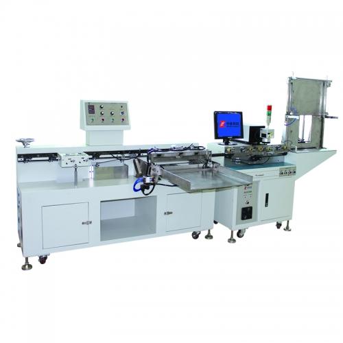 金属化电容激光打标、脱粒、撕纸组合机